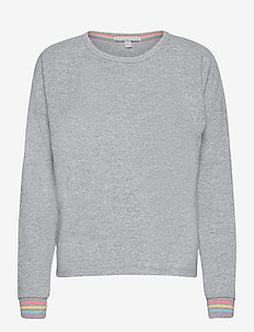 l/s shirt - tops - grey melange