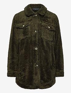 jacket - wollen jassen - olive green
