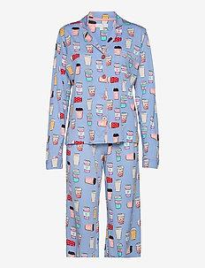 Pyjama Long - pyjamas - bluegrey