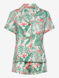 pyjama short - pyjamas - coral red