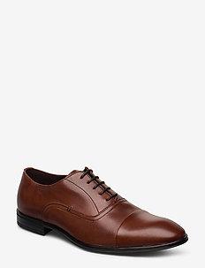 2498 - buty sznurowane - cognac