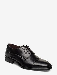 6519 - buty sznurowane - black