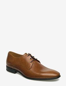 7408 - laced shoes - cognac
