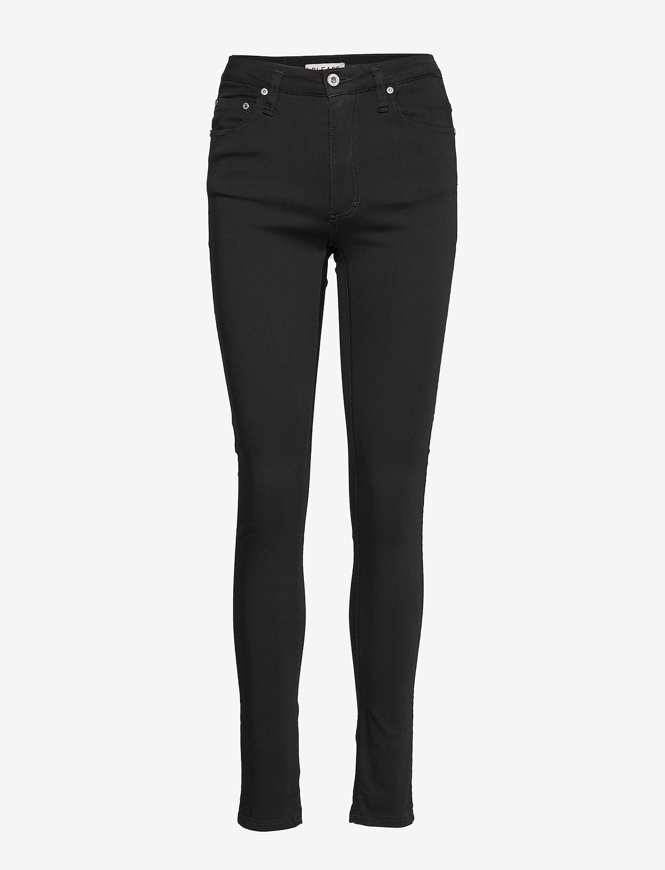 Please Jeans - SLENDER SILK TOUCH - slim fit bukser - 9000 nero - 0