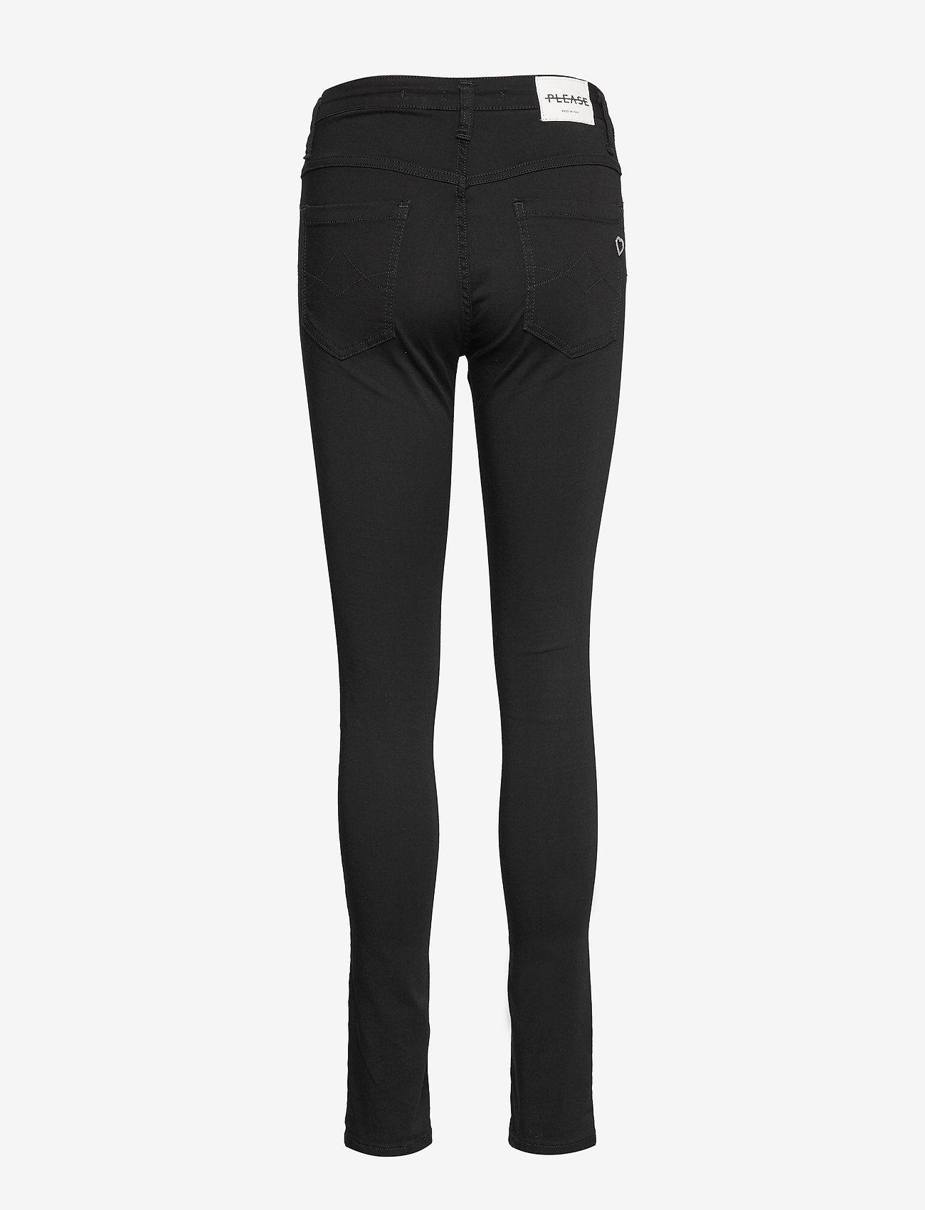 Please Jeans - SLENDER SILK TOUCH - slim fit bukser - 9000 nero - 1