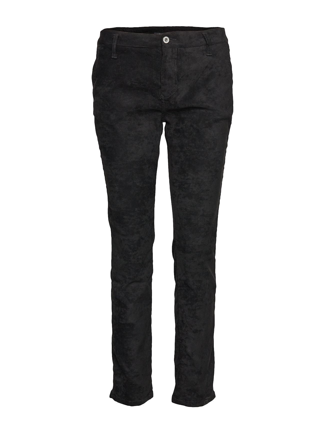 Please Jeans CHINO FILETTO VEGAN LEATHER - NERO