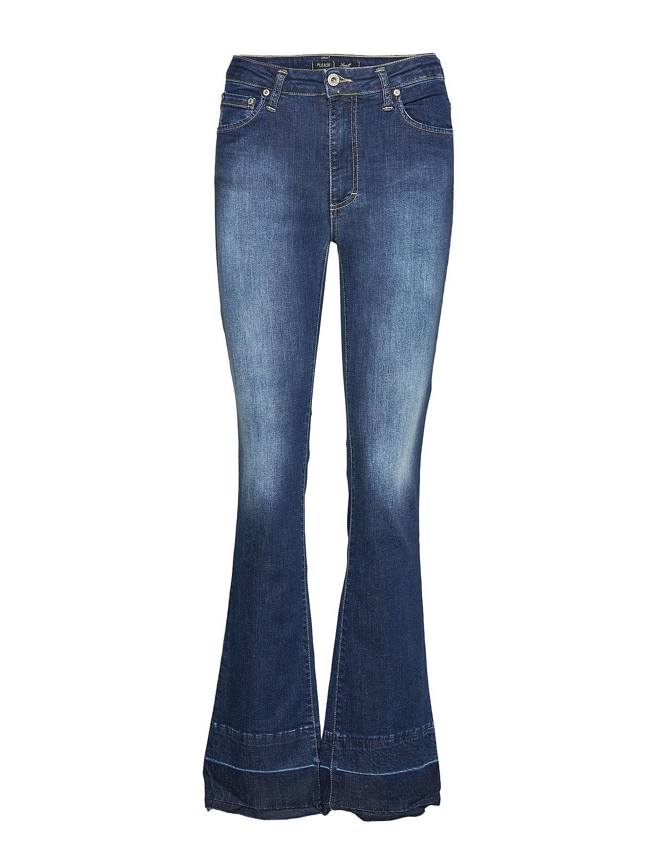 Please Jeans LONGCUT RAW EDGE OSLO - BLU DENIM