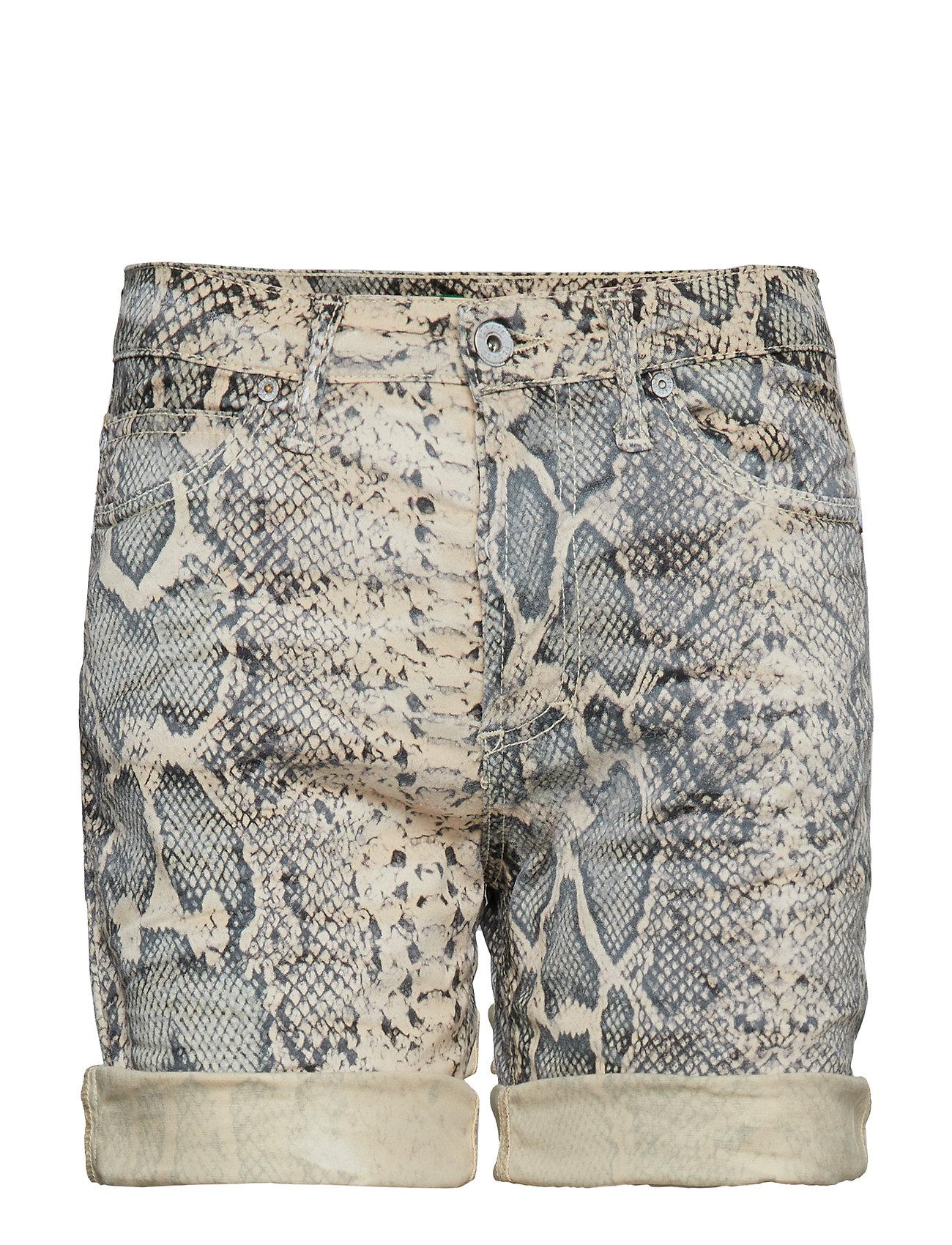 Please Jeans Bermuda Shorts Snake - ECRU