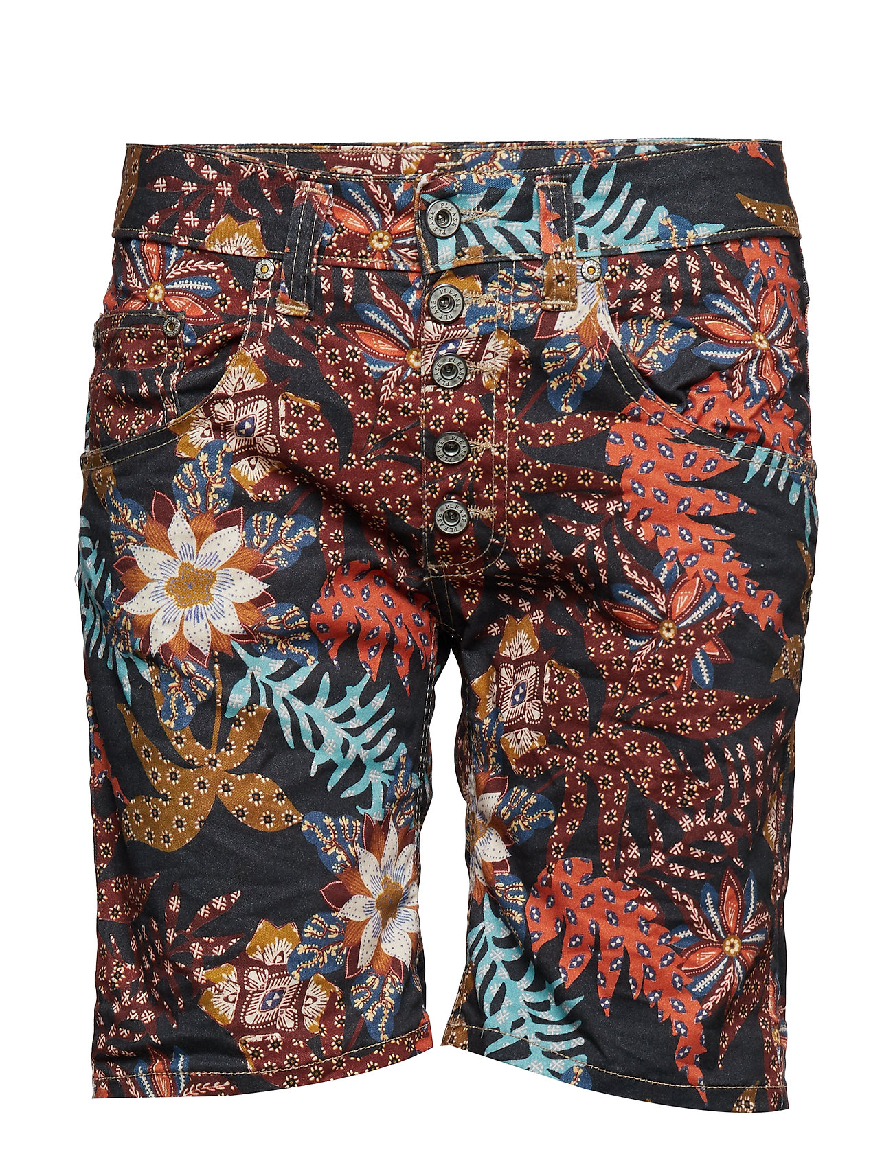 Please Jeans 5B SHORTS PALM PRINT - 0002 MULTICOLOUR