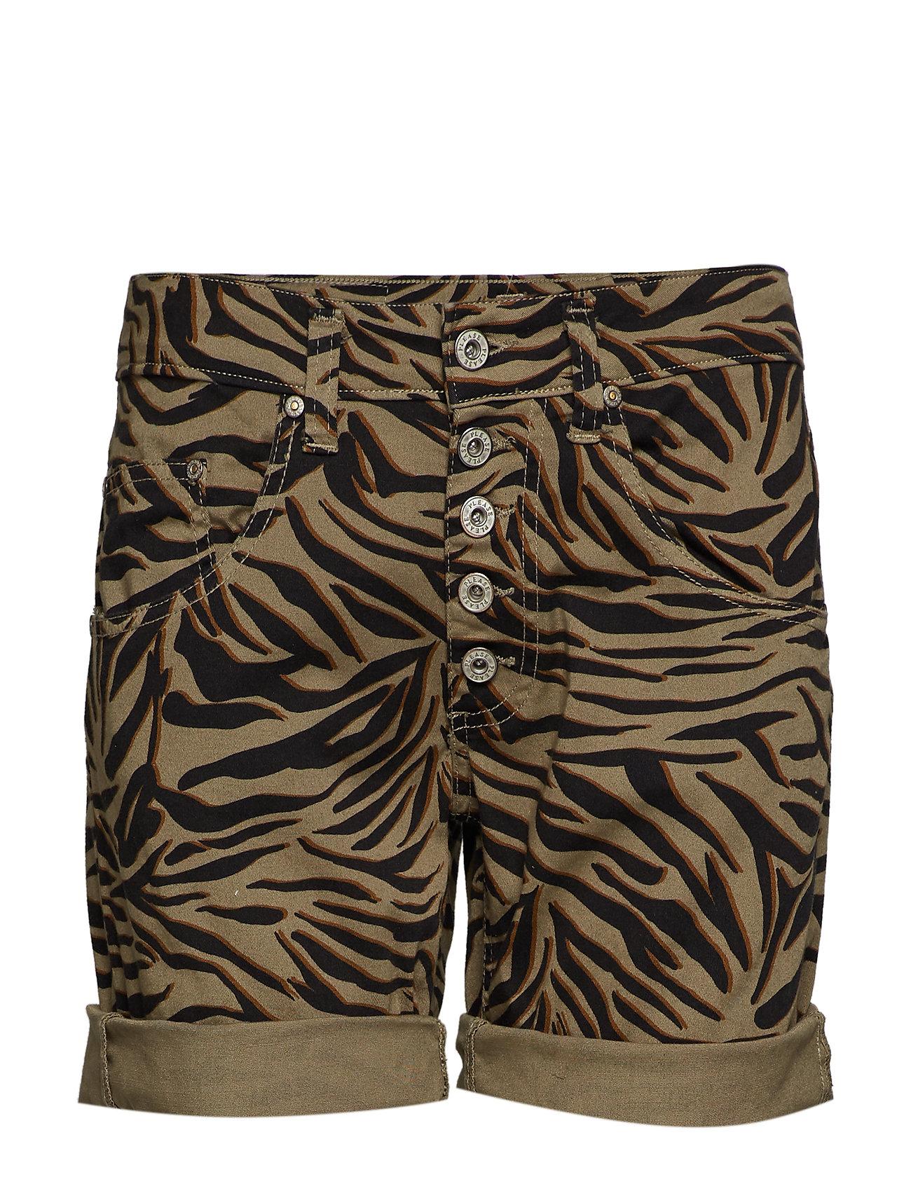 Please Jeans 5B SHORTS ZEBRA - 6022 COOL KAKI