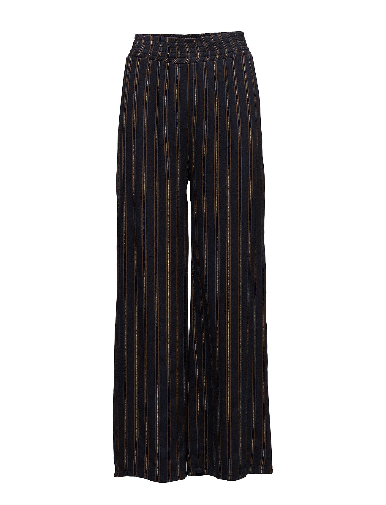 Please Jeans WIDE PANTS BROWN STRIPE
