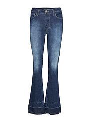 Longcut Raw Edge Oslo Jeans Utsvängda Blå PLEASE JEANS