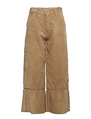 WIDE PANTS COD. STUDS - CAMELLO