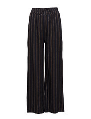 WIDE PANTS BROWN STRIPE