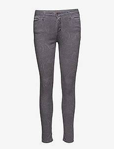 Catwoman Grey Paisley - skinny jeans - grey