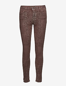 Catwoman Brown Snake - skinny jeans - brown