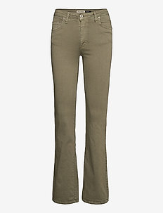 LONGCUT COTTON SS - utsvängda jeans - verde