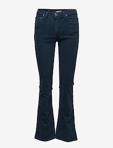 LONGCUT COD. - boot cut jeans - intensiv blu