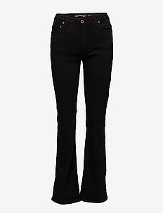 LONGCUT NERO DENIM - boot cut jeans - nero denim