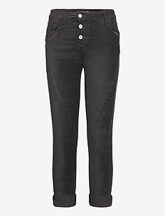 C VEGAN LEATHER - straight jeans - nero