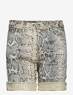 Bermuda Shorts Snake - farkkushortsit - ecru