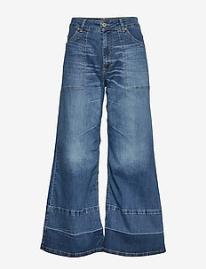 WIDE LEG DENIM - flared jeans - blu denim