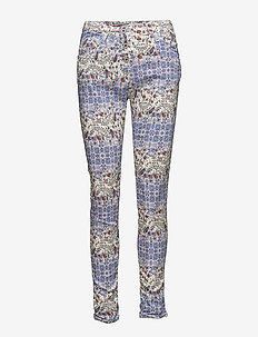 Classic Blue Flower - skinny jeans - multi coloured /blue