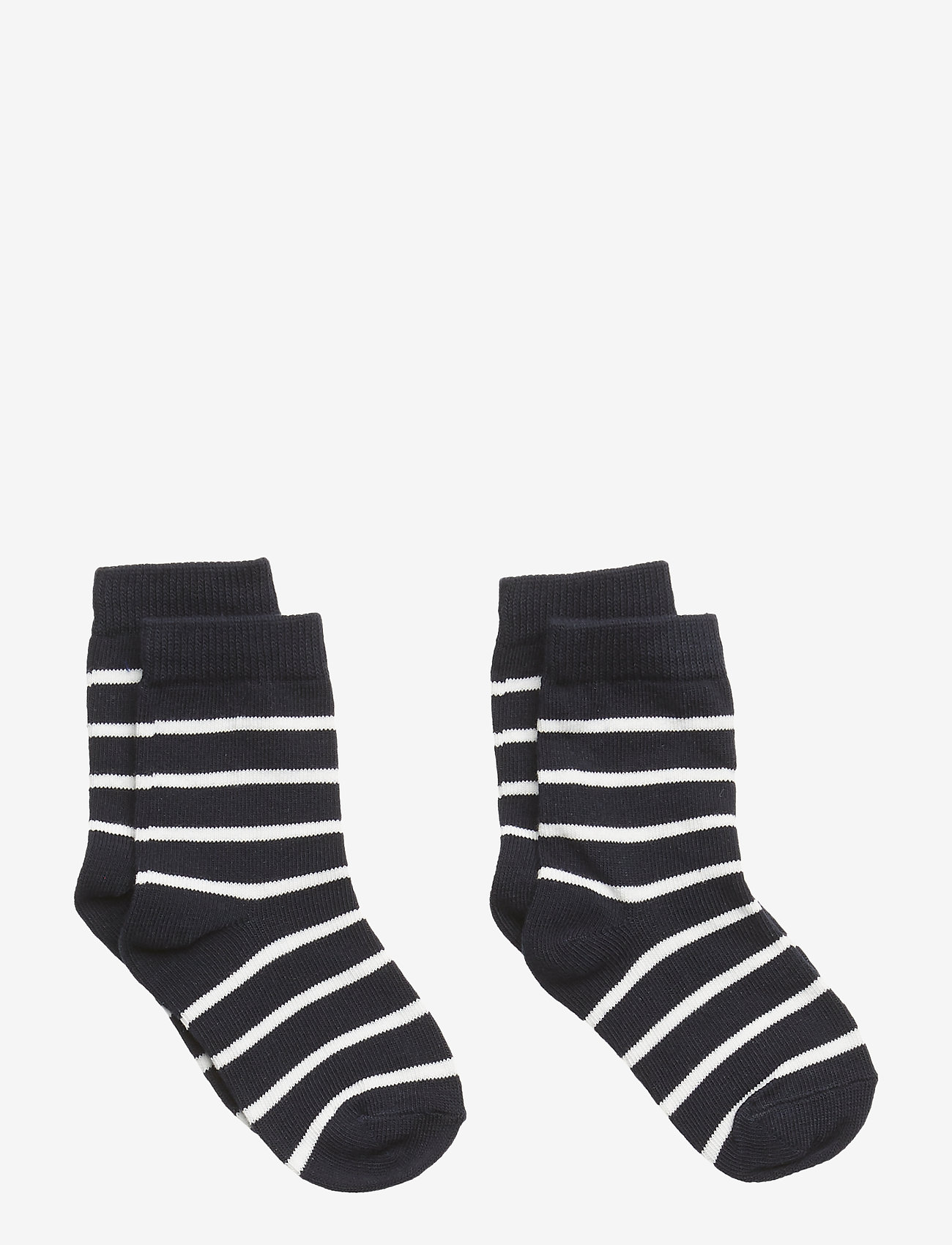 Polarn O. Pyret - Socks 2-P PO.P Stripe Baby - skarpetki - dark sapphire - 0