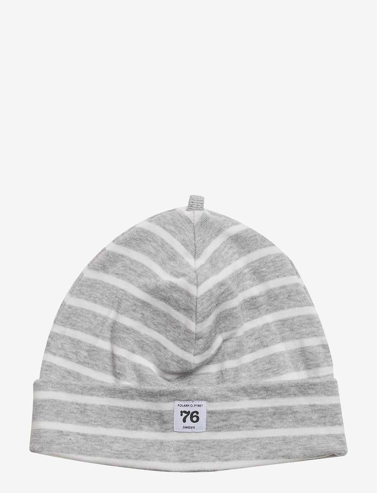Polarn O. Pyret - Cap PO.P Stripe - hatte og handsker - greymelange - 1