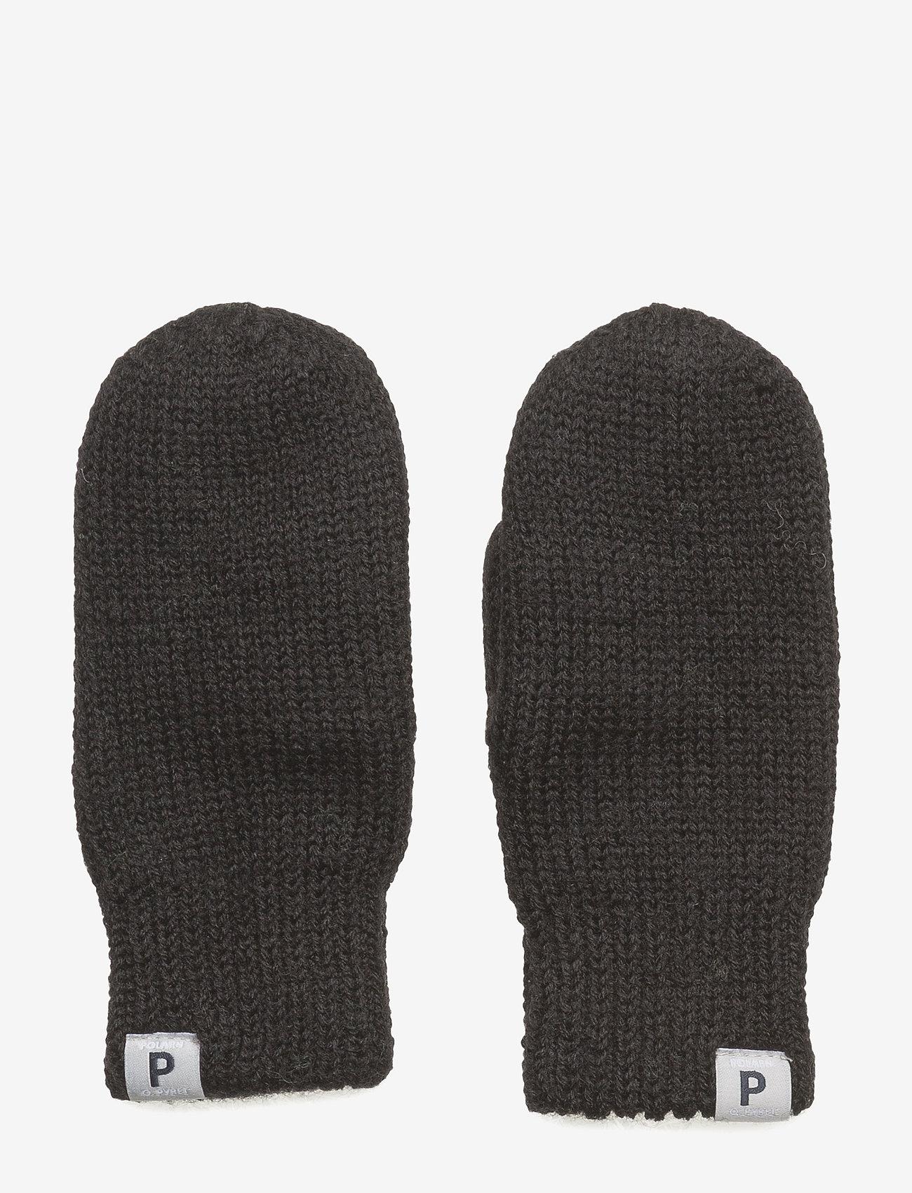 Polarn O. Pyret - Mitten Wool Baby - black - 0