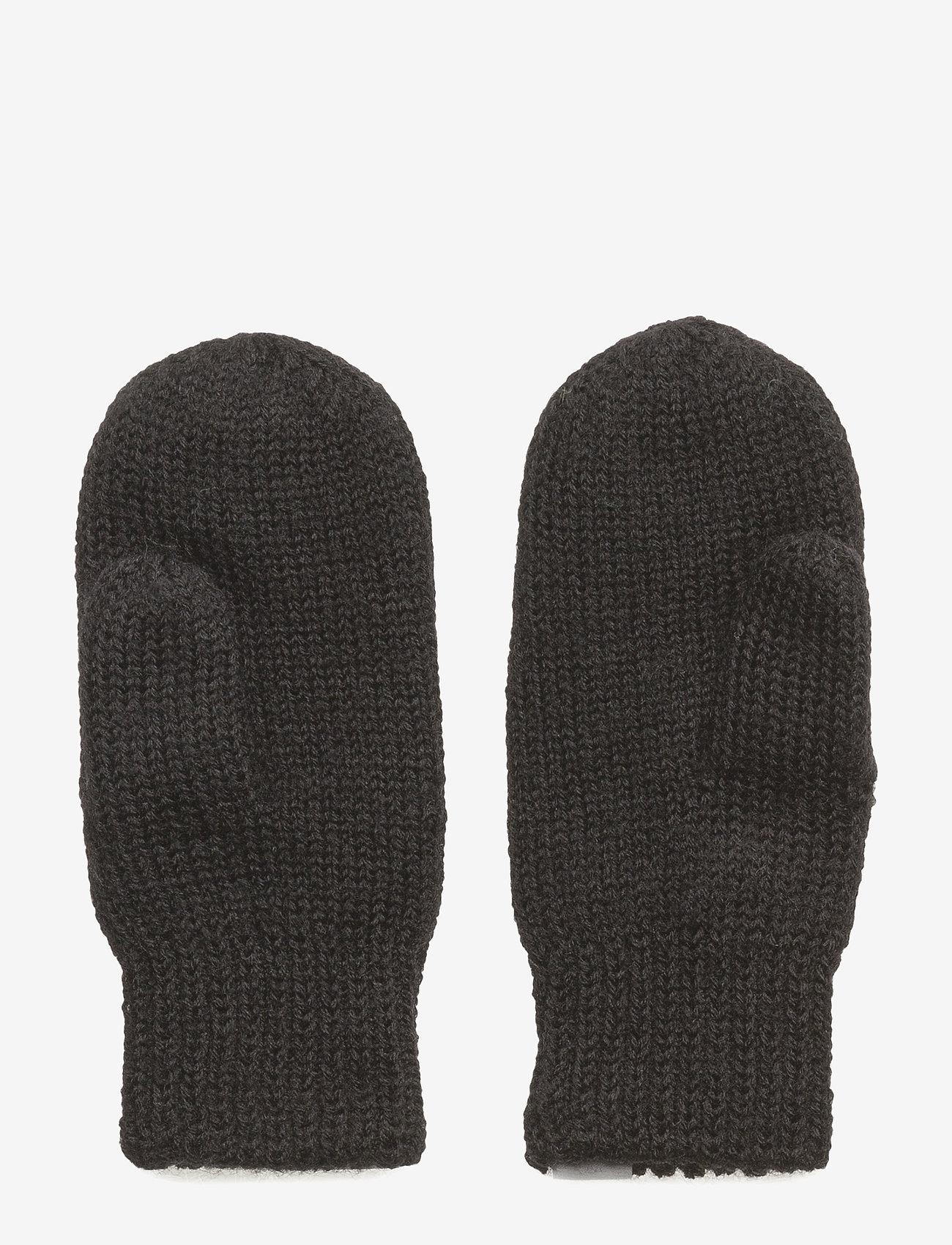 Polarn O. Pyret - Mitten Wool Baby - black - 1