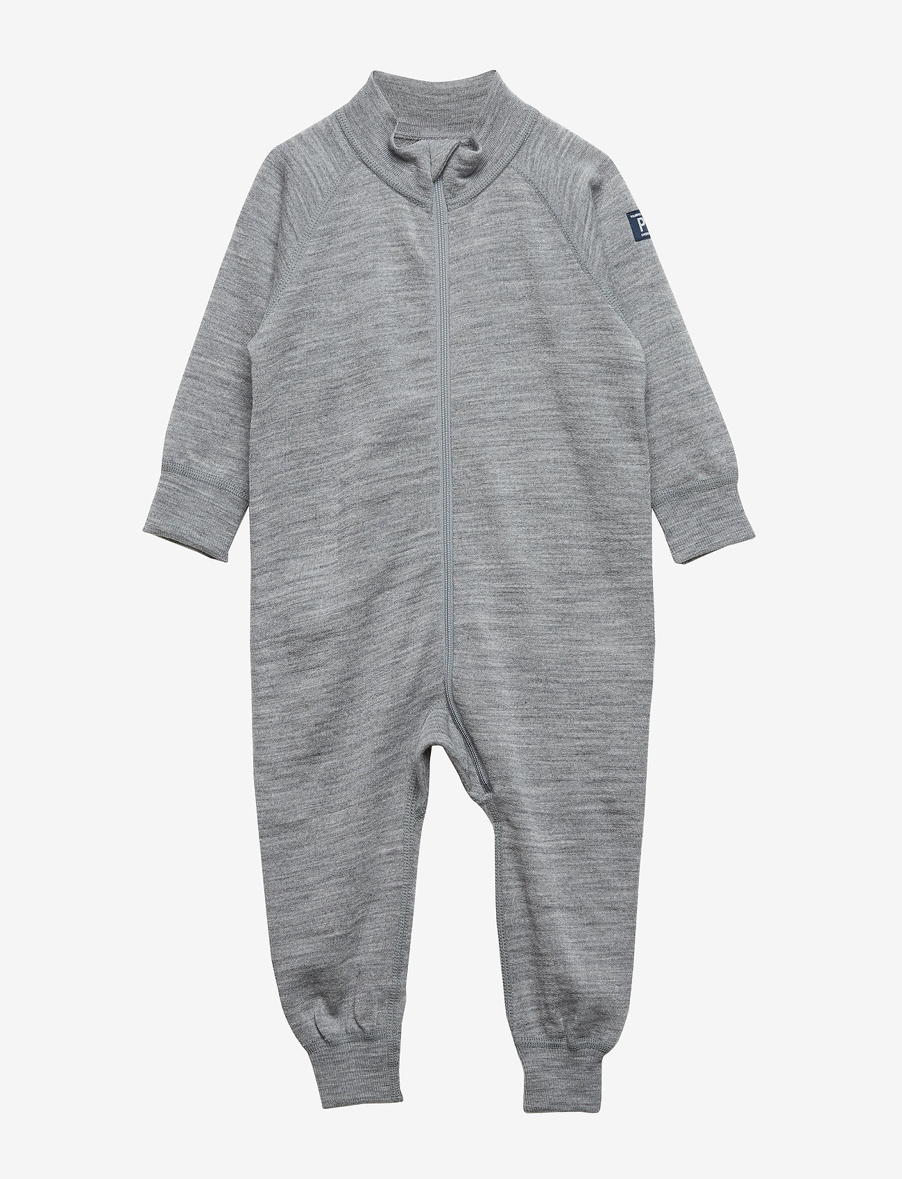 Polarn O. Pyret - Overall Solid Wool Baby - bodies - greymelange - 0