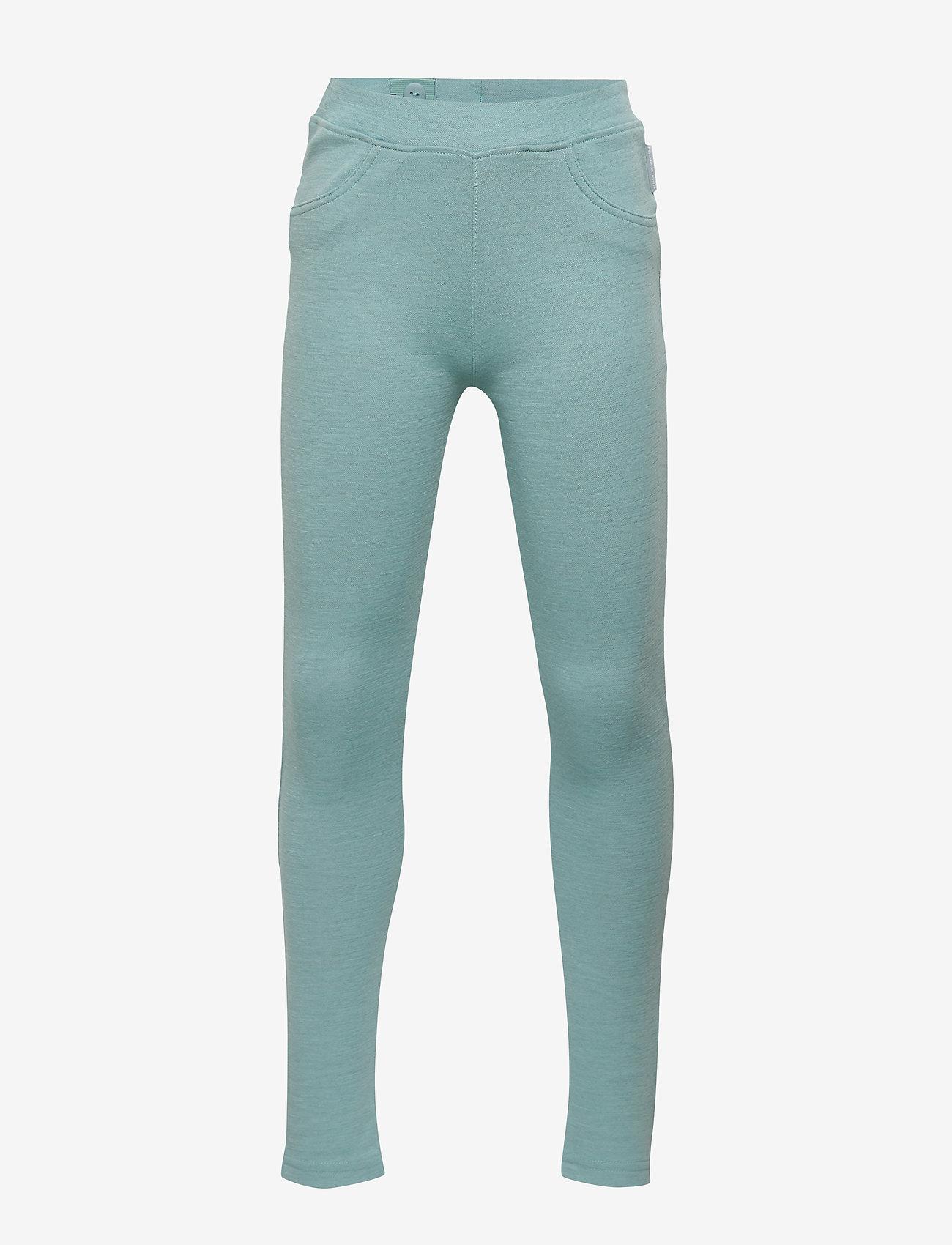 Polarn O. Pyret - Trousers w frill Preschool - wol - marine blue - 0