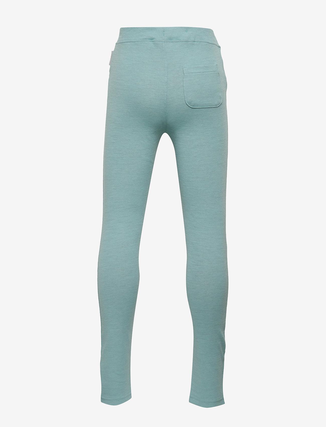 Polarn O. Pyret - Trousers w frill Preschool - wol - marine blue - 1