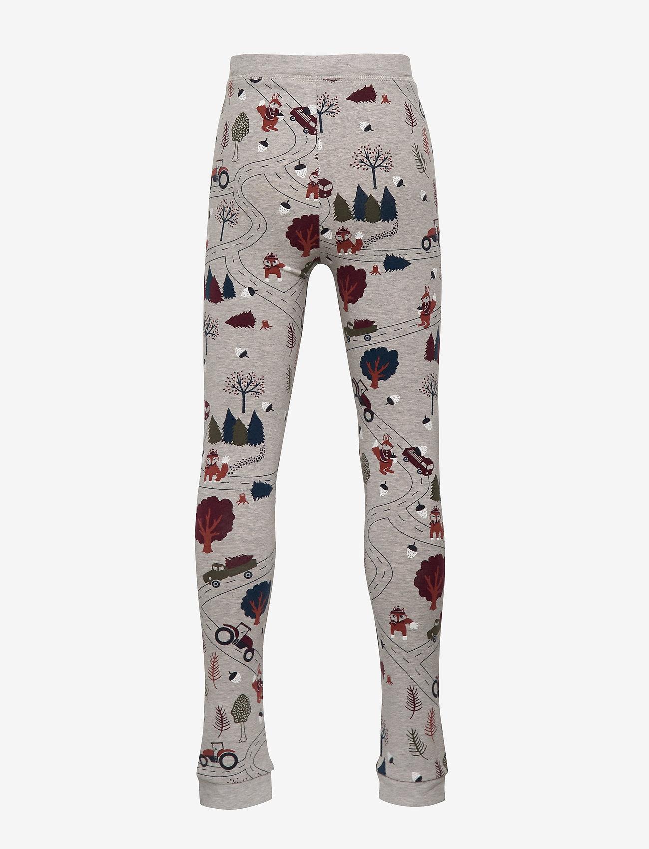 Polarn O. Pyret Trousers Jersey Aop Preschool - Nederdelar Greymelange