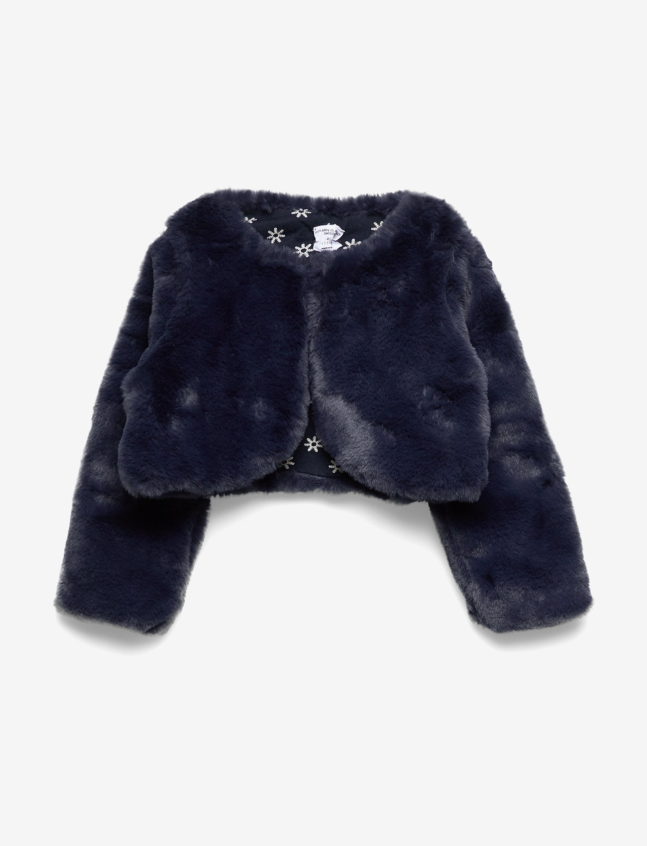 Polarn O. Pyret - Cardigan Pre- School - fausse fourrure - dark sapphire - 0
