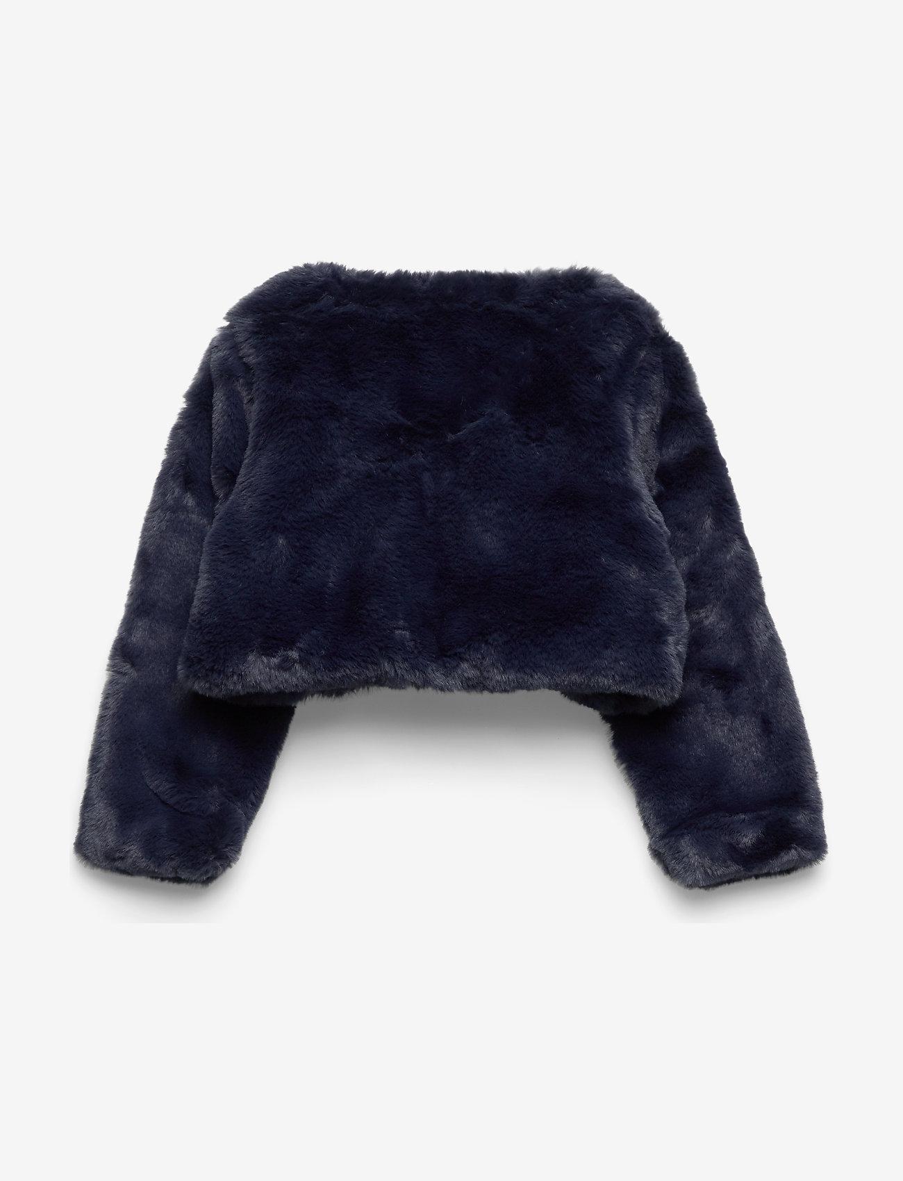 Polarn O. Pyret - Cardigan Pre- School - fausse fourrure - dark sapphire - 1