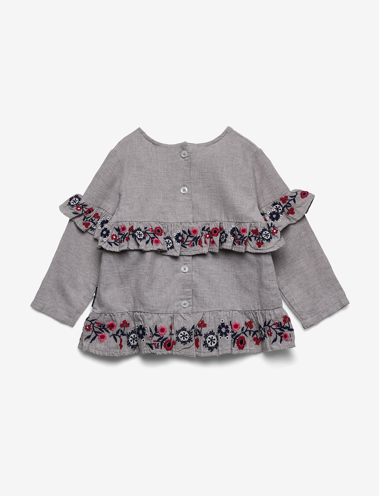 Polarn O. Pyret - Top l/s Woven Preschool - blouses & tunieken - greymelange - 1