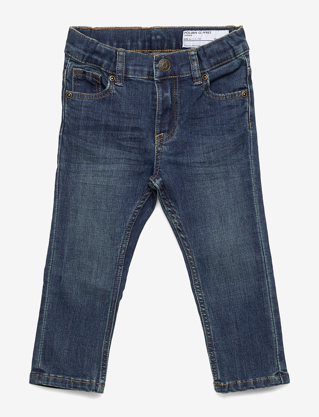 Polarn O. Pyret - Super slim fit, stretch jeans - jeans - blue denim - 0