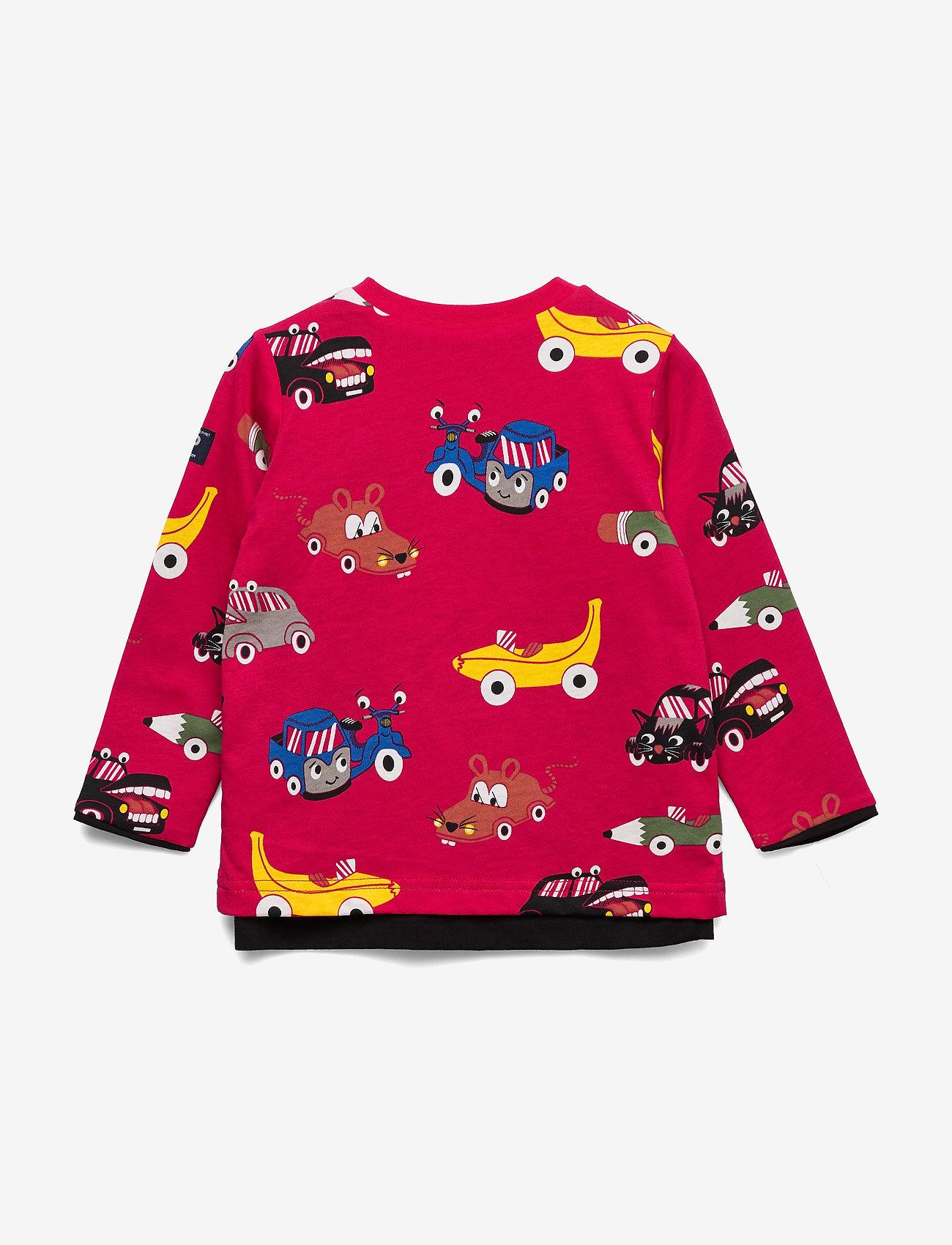 Polarn O. Pyret T-shirt L/s Print Preschool - Överdelar Black