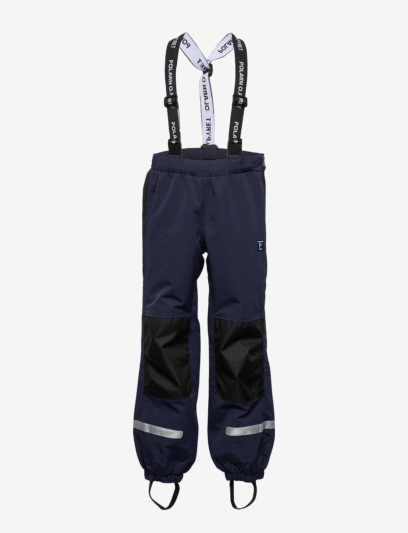 Polarn O. Pyret - Trousers Shell w Suspendor PreScool - hosen - dark sapphire - 0