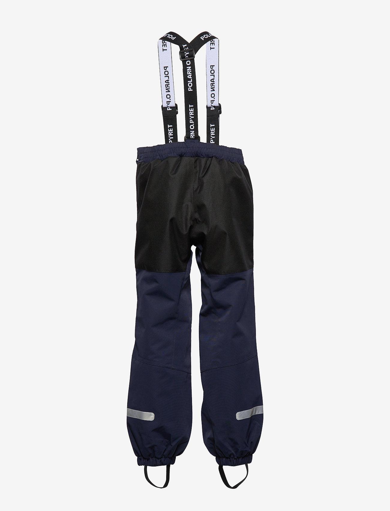 Polarn O. Pyret - Trousers Shell w Suspendor PreScool - hosen - dark sapphire - 1