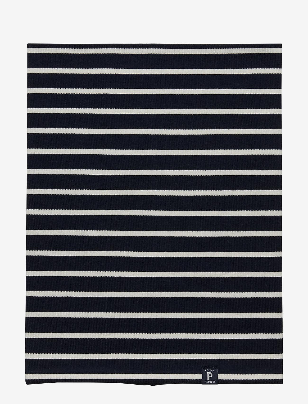 Polarn O. Pyret - Neckwarmer stripe Preschool - vintertøj - dark sapphire - 1