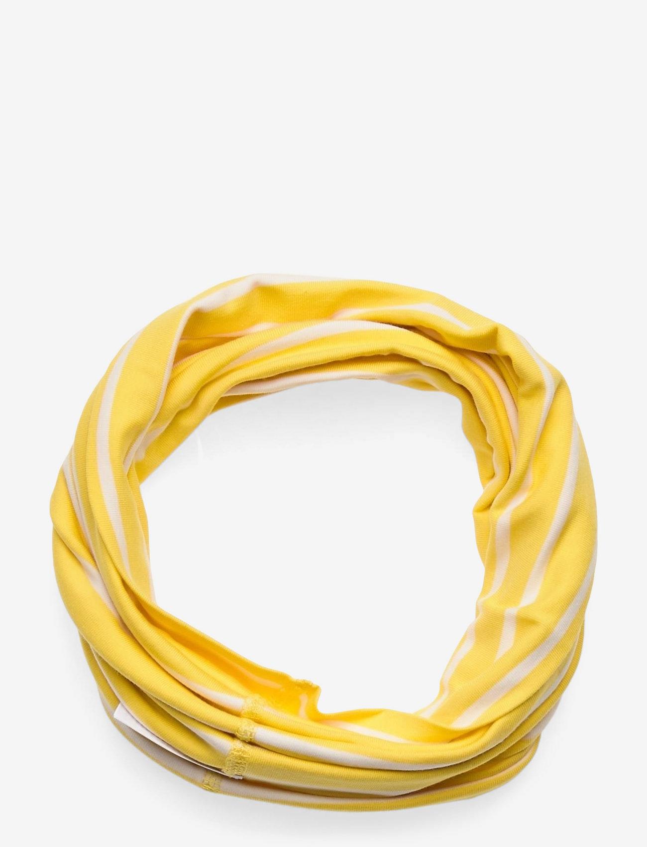 Polarn O. Pyret - Neckwarmer stripe Preschool - vintertøj - lemon drop - 0