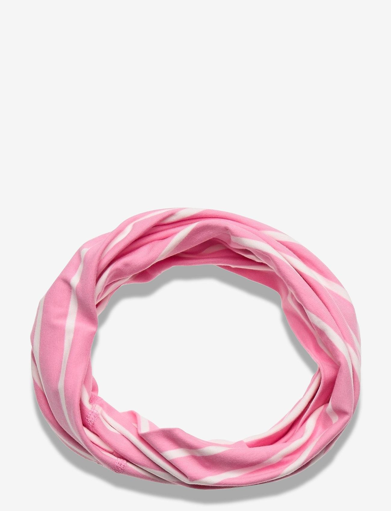 Polarn O. Pyret - Neckwarmer stripe Preschool - vintertøj - sachet pink - 0