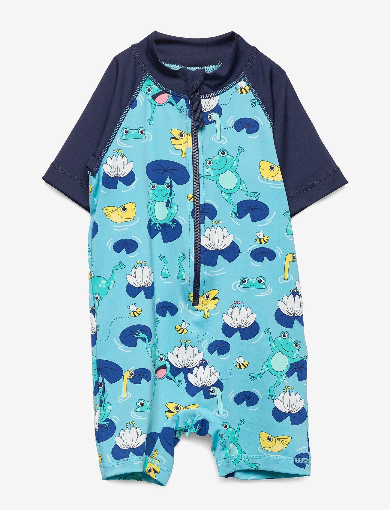 Polarn O. Pyret - Swimsuit Short PreSchool - swimsuits - dark sapphire - 0