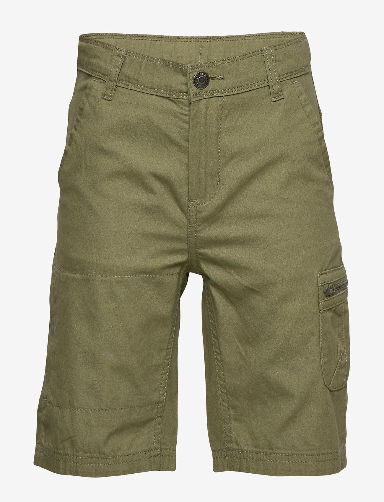 Polarn O. Pyret - Shorts woven solid School - shortsit - olivine