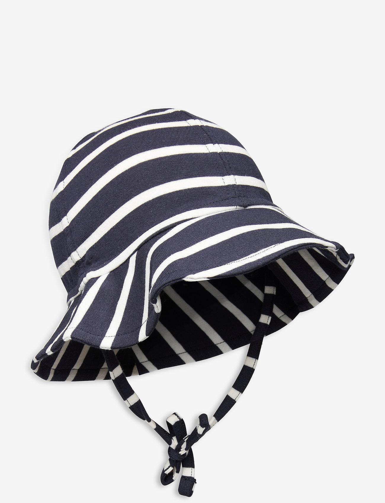 Polarn O. Pyret - Sunhat PO.P Stripe Baby - kapelusz przeciwsłoneczny - dark sapphire - 0