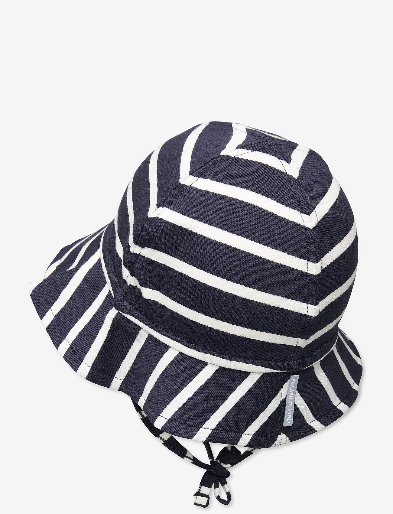 Polarn O. Pyret - Sunhat PO.P Stripe Baby - kapelusz przeciwsłoneczny - dark sapphire - 1