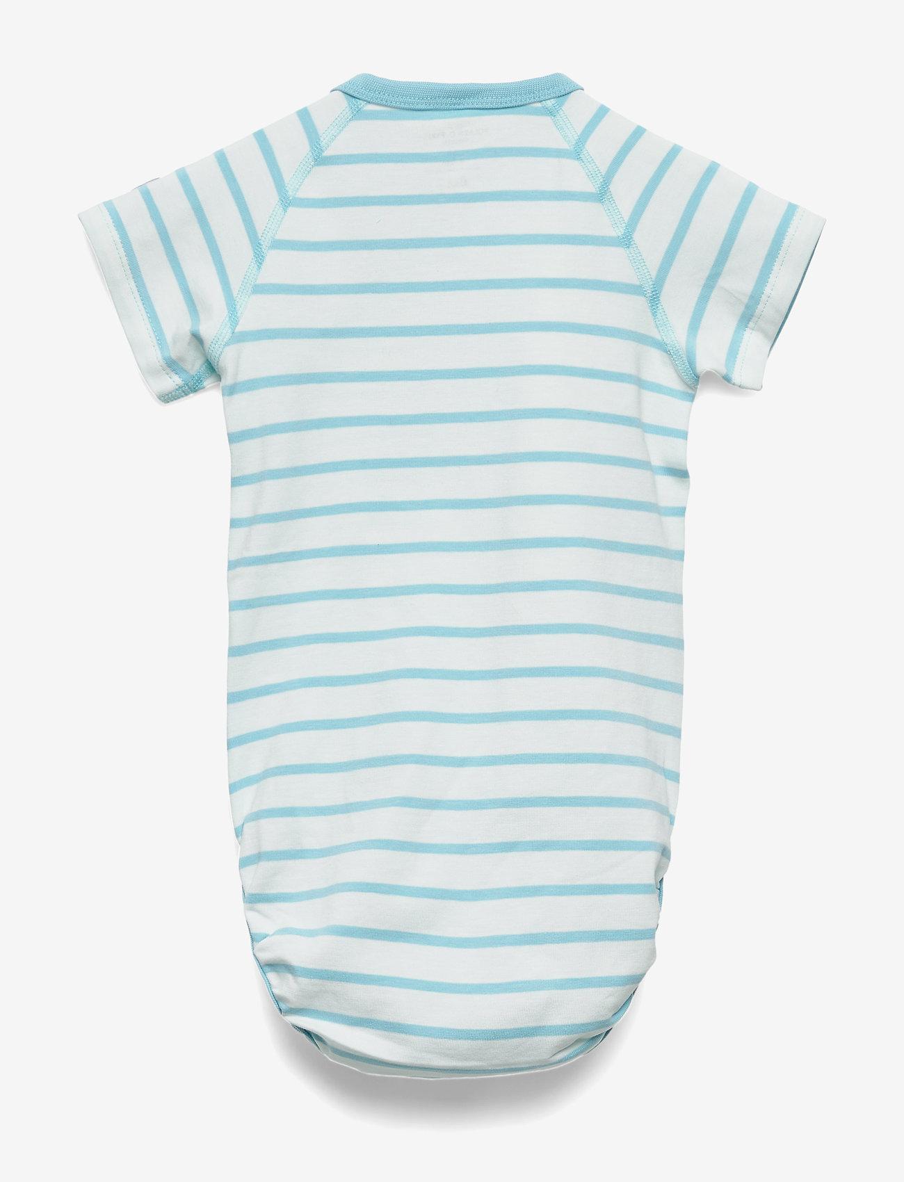 Polarn O. Pyret - Body Wrapover Striped Baby - lyhythihaiset - petit four